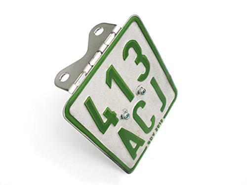50ccm Edelstahl Halter für Versicherungskennzeichen UNIVERSAL Nummernschildhalter Kennzeichenhalter für Roller und Mopeds