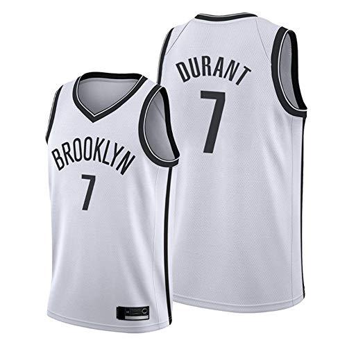YDYL-LI Jerseys De Baloncesto De Los Hombres - NBA Brooklyn Nets-Kevin Durant # 7 Baloncesto Deportes Tops Malla Camiseta Sin Mangas,Blanco,M(170~175CM)