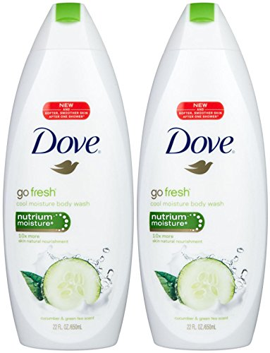 Go Fresh Cool Moisture Body Wash with NutriumMoist Dove - 24 oz (Pack of 6) by Dove