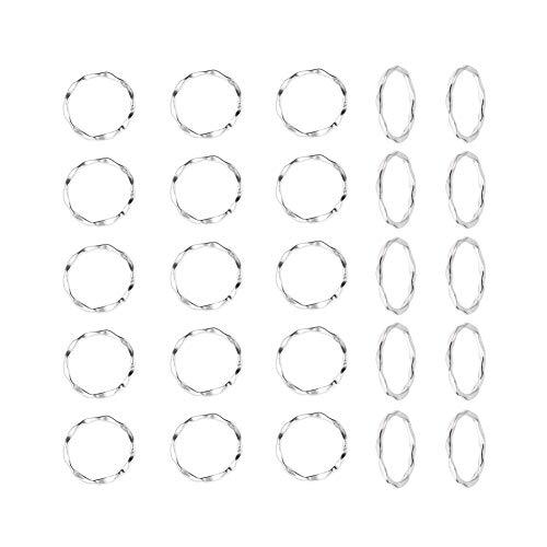 UNICRAFTALE 50個 22mm 丸環 合金リンクリング 合金コネクタリング チベット風 丸型リング アンティークシルバー チャームリング 枠 フレーム ネックレスブレスレット用 ジュエリー作り リングチャーム コネクター 金具 アクセサリーパーツ
