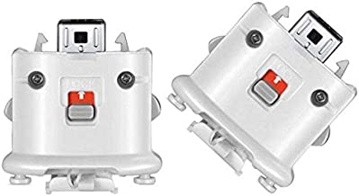 Wii Motion Plus Adapter-Sensor Accelerator for Nintendo Remote Controller Wii U Motion Plus (White 2PCS) photo