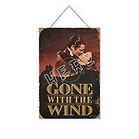 風と共に去りぬ(5)木製のリストプラーク木の看板ぶら下げ木製絵画パーソナライズされた広告ヴィンテージウォールサイン装飾ポスターアートサイン