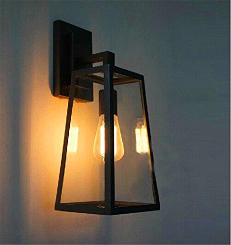 JJZHG Wandlamp, waterdichte wandlamp, retro, outdoor, balkon, creatieve wandlamp, glazen kast, hoogwaardige wandlamp, omvat: wandlamp, stoere wandlampen, wandlampen, design