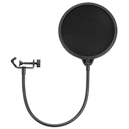 LXJLXJ Micrófono Pop Cubierta del Filtro de Doble Capa Mic del Parabrisas Metal Aislamiento del blindaje por un Vocal de grabación