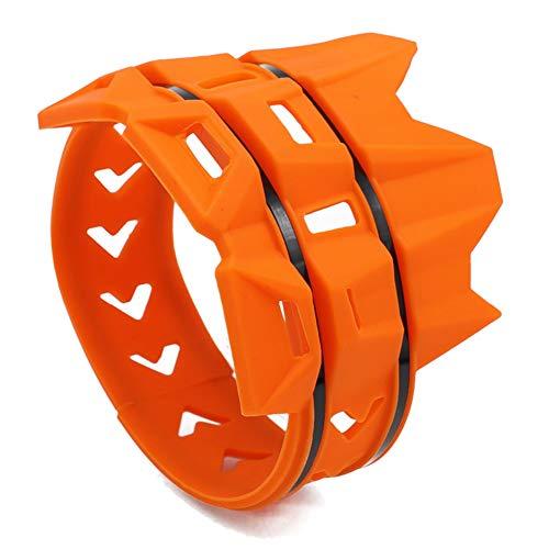 TOOGOO Cubierta Silenciador Anillo Anti-Plancha de Moto Cubierta Protectora Anillo Aislante Adecuado para Todoterreno Buggy Piezas (Naranja)