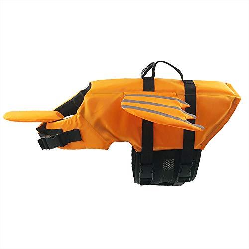 BLEVET Haustier Schwimmweste Hund Lebensretter Pet Floatation Weste Sicherheit Life Saver Sicherheit Badeanzug Erhalter MZ085 (M, Orange)