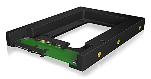 Icy Box IB-2538StS Konverter 1x 2,5 Zoll auf 1x 3,5 Zoll für SATA HDD/SSD, Kunststoff, Messinggewinde, SATA III, schwarz
