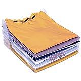 Organizador de Camisetas, 10Pcs Organizador de Armarios Ropa, Camiseta Carpeta, Organizador Plegable Apilamiento, Camisas Camiseta Folder, para Camisas y Ropa en Armarios, Cajones, Guardarropas