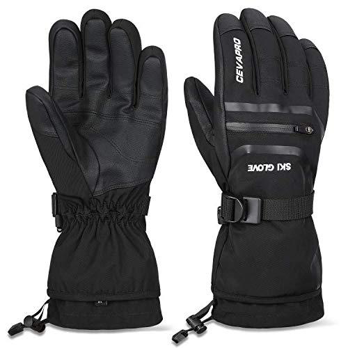 Cevapro Skihandschuhe Winter Schi Handschuhe Snowboard wasserdichte Touchscreen Handschuhe mit 3M Thinsulate für Skifahren Motorradfahren Radfahren Laufen Wandern und andere Outdoor Sport (L)