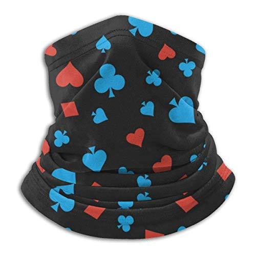 N / A Naipes Negro Cubierta De La Cara Protección UV Bandana Impreso Sombreros Multifuncional Bufanda para Mujer Hombre