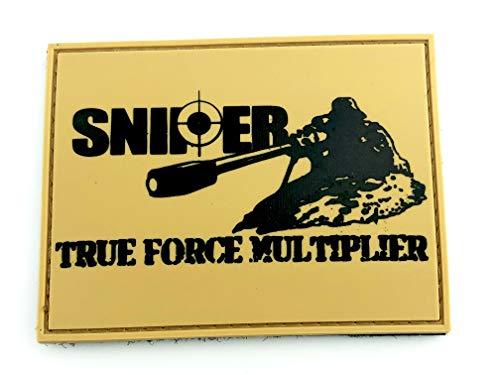 Patch Nation Sniper True Force Multiplier Hellbraun PVC Klett Emblem Abzeichen