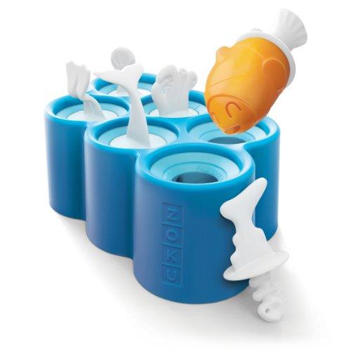 Incluye 6 palitos de polo Base con 6 moldes Fácil de eliminar el moho del silcone Con tema de peces