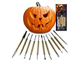 Halloween Pumpkin Carving Tool Kit – Heavy Duty Knife Sets Jack-O-Lantern Halloween Sculpting,...