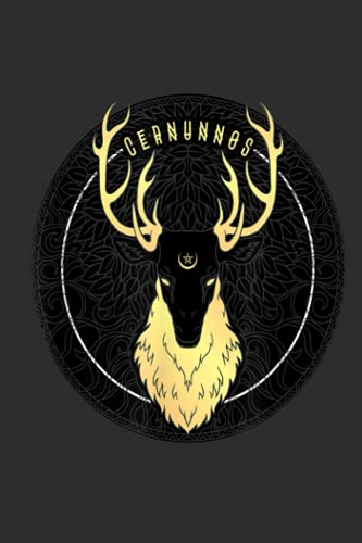 Cernunnos Celtic Pagan Horned Stag Forest God with Pentagram Gift NoteBook: Notebook Funny, Cute for Children To Plan Work.Gift Idea, Gift For Friend ... lined notebook journal 6 x 9 - 110 pages