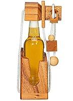 Mini Flaschen-Puzzle für Pils Flaschen und andere kleinen Bier-Flaschen Passt für viele kleine Flaschen - Größe individuell verstellbar edler Look durch hochwertiges Holz Bebilderte Beschreibung, die das Denkspiel in in einfachen Schritten erklärt is...
