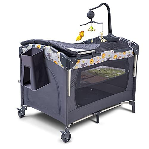 SKIH 5 in 1 Baby Bedside Sleeper, Baby Bassinet, Bedside Cribs with...