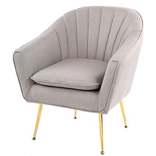 lyrlody- Sillón Relax Sofá Individual Tapizada con Reposabrazos para Sala de Estar Oficina Dormitorio(Gris)