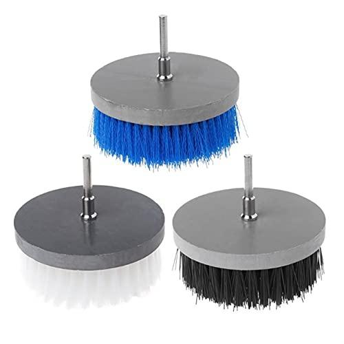 WCNMB Conveniente y Duradero 1 unids 100 mm Taladro eléctrico Scrub Limpiador de Trabajo Pesado Cepillo de Limpieza para Limpiar mofa de mofa Muebles de Madera De múltiples Fines