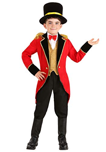 Circus Ring Master Deluxe Kids Costume Boys Ringmaster Costume Medium (8-10)
