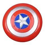 Getrichar Marvel Avengers Capitán América Disfraz Escudo 1: 1 Disfraz de Halloween para niños Accesorios de Cosplay Accesorios Hechos de plástico de 12 Pulgadas
