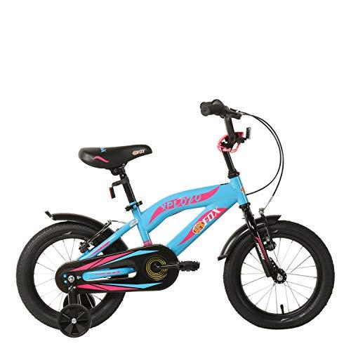 Firefox Bikes Xplozo 14T Kids Cycle (Blue) I 9' Frame I Free Training Wheels Ideal For :3-5 Years I Light weight Frame