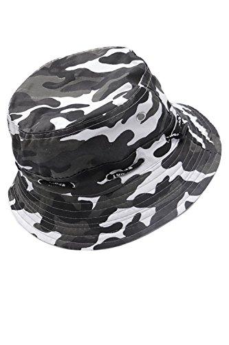 Vococal - Unisex Leinwand Fischerhüte - Erwachsene Sonnenhüte - Sonnenschutz Eimer Hüte Cap, Tarnung