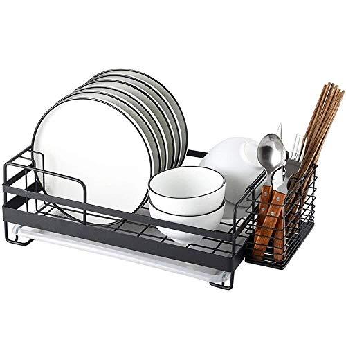 BEVANNJJ ZYY Kitchen shelf Kitchen Shelf Dish Rack Stainless Steel Drain Rack Black 39 * 26 * 14cm