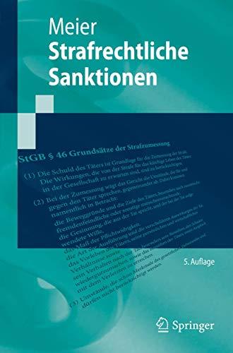 Strafrechtliche Sanktionen (Springer-Lehrbuch)