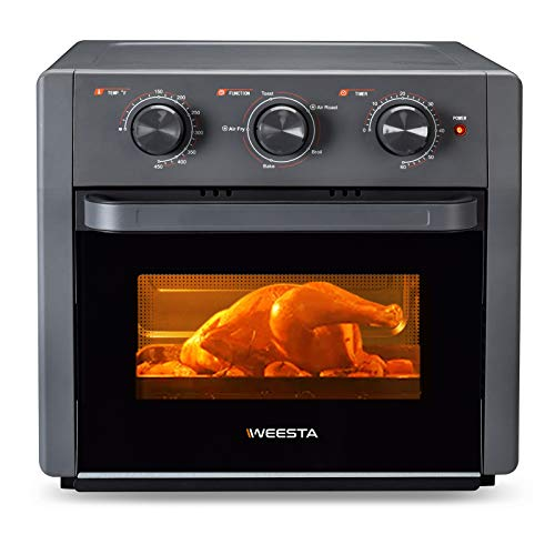 WEESTA Air Fryer Toaster Oven - 5-In-1 Convection Oven with Air Fry, Roast, Toast, Broil & Bake Function - Air Fry Toaster Oven for Countertop - Kitchen Appliances for Cooking Chicken, Steak & Pizza