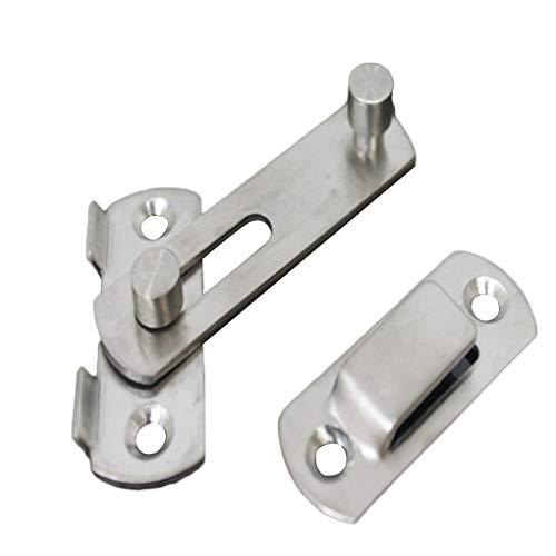 Hotaluyt Edelstahl-Fang-Verriegelungs-Anti-Diebstahl-Schiebe-Tür-Fenster-Schrank Metall Bolt Schiebeverschluss