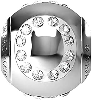 SWAROVSKI LETTER O Stainless Steel Becharmed 12 MM CRYSTAL BEAD