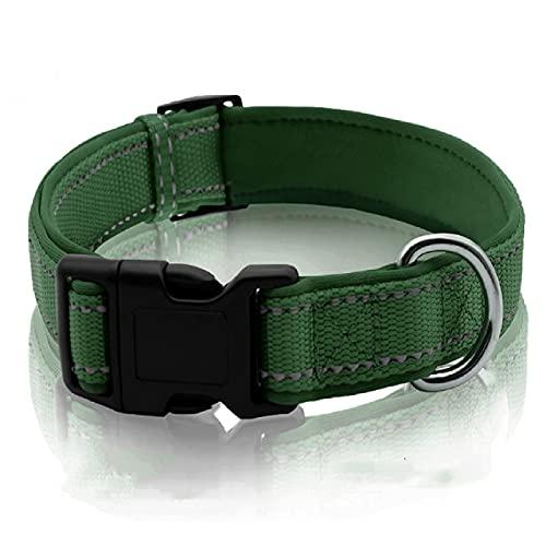 Nuevo collar de mascota Velcro reflectante luz buceo tela collar perro