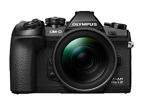 Olympus OM-D E-M1 Mark III Micro Four Thirds Systemkamera Kit inkl. M.Zuiko Digital ED 12-40mm f2.8 PRO Objektiv, 20 MP Sensor, 5-Achsen Bildstabilisierung, 4K Video, Wi-Fi,Bluetooth, Schwarz