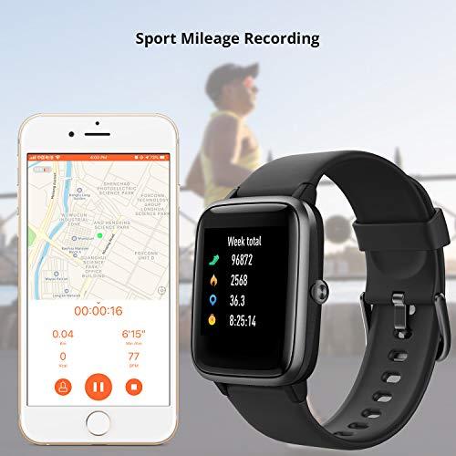 Smartwatch, Fitness Armband Voll Touchscreen 5ATM Wasserdicht, Damen Herren Smart Watch für Android IOS, Fitness Uhr mit Pulsmesser Schlafmonitor Stoppuhr Musiksteuerung,Sportuhr Aktivitätstracker