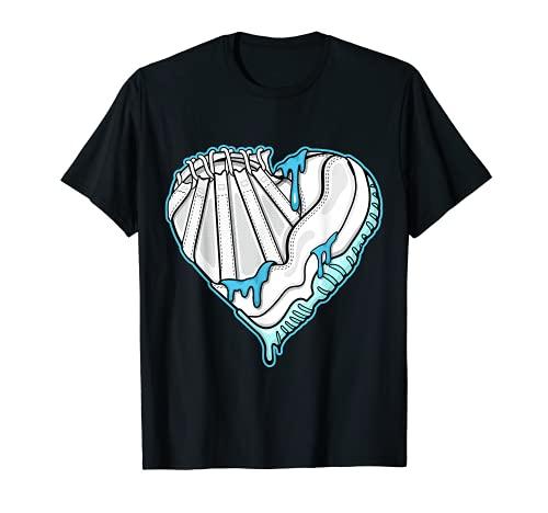 SNK Heart To Match Jordan 11 Low Legend Blue T-Shirt