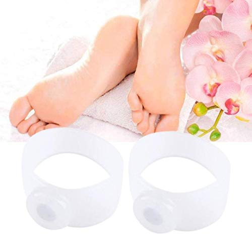 BIG HUB 1pair Magnetic Silicone Slimming Toe Ring for Loss Weight Foot Massage Slimming Products adelgazar