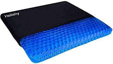Gel Seat Cushion, Double Thick Egg Gel Cushion for Pressure Pain Relief, Breathable Wheelchair Cushion Chair Pads for Car Seat Office Chair (16x14x1.65inch)