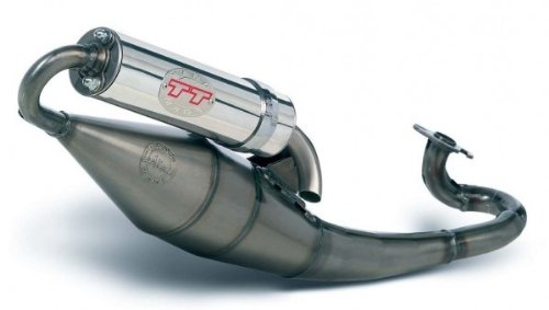 Marmitta LEOVINCE Handmade TT per Piaggio Liberty 502T