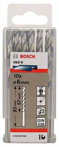 Bosch Professional Metallbohrer HSS-G geschliffen (10 Stück, Ø 6 mm)
