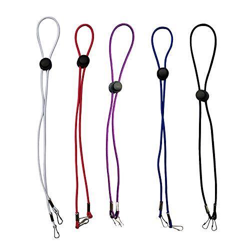5Pcs Adjustable Length Face Masks Lanyard - Masks Chain Holder - Mask Lanyards Holder Around Neck - Sanitary Masks Strap Extenders (Multicolour)