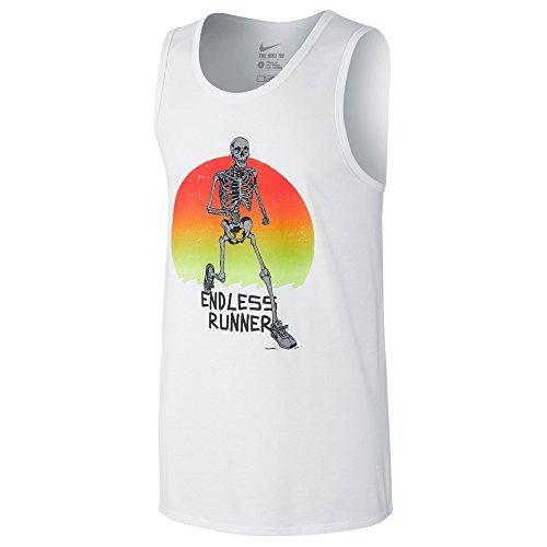 Nike Mens Jersey Graphic Tank Top White XL