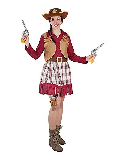DISBACANAL Disfraz de Vaquera Cowboy Mujer - -, S