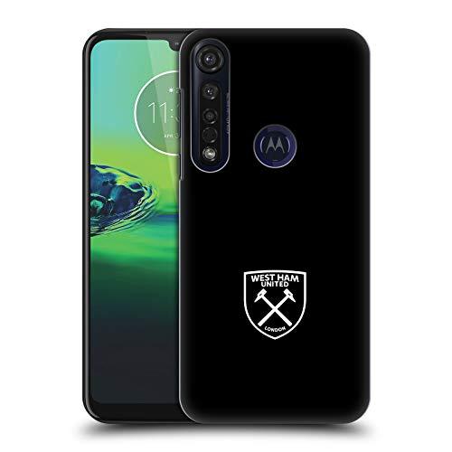 Officiële West Ham United FC Wit logo Crest Hard Back Case Compatibel voor Motorola Moto G8 Plus