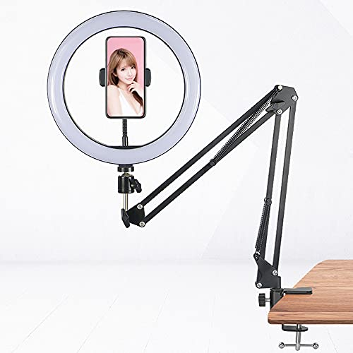 YUYDYU Selfie Stick con luz de anillo, multifuncional selfie stick con soporte para teléfono LED luz de llenado, regulable 3 colores para YouTube TikTok Videos Live Stream Make-ups