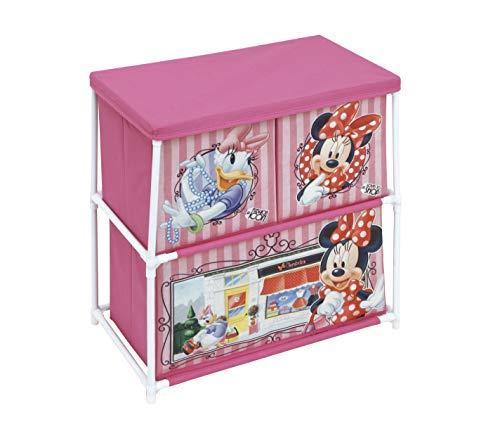 ARDITEX – Mueble de Metal para Almacenamiento (3 Compartimentos bajo Licencia Minnie Mouse Dimensiones: 53 x 60 x 30 cm, poliéster, 53 x 30 x 60 cm)