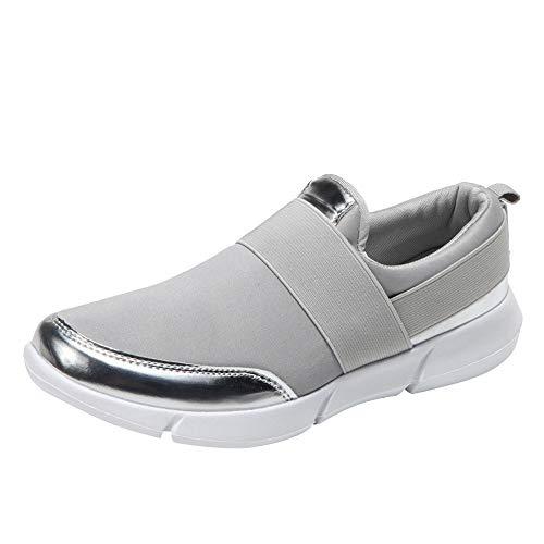 Femmes Maille Mocassins Occasionnels Chaussures Plates Confortable Respirantes Sport Chaussures de Course Souples Chaussures de Gym BaZhaHei