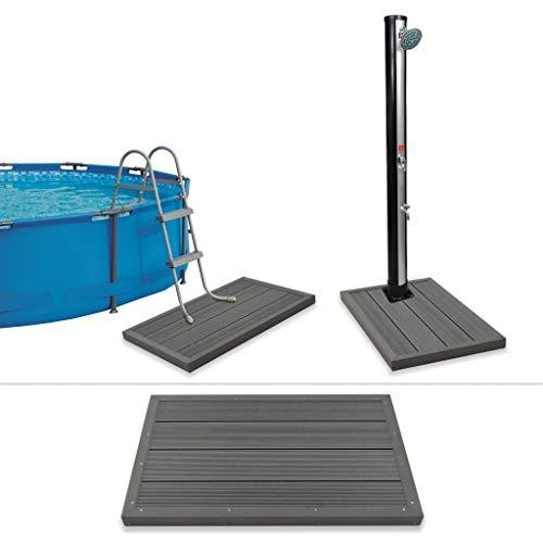 GJEFEGS vidaXL Bodenelement für Solardusche Poolleiter WPC