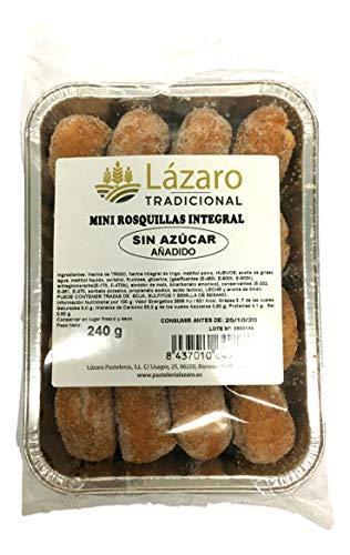 Lázaro Mini Rosquillas Integral, Sin Azúcar Añadidos, Con Maltitol - 240 g