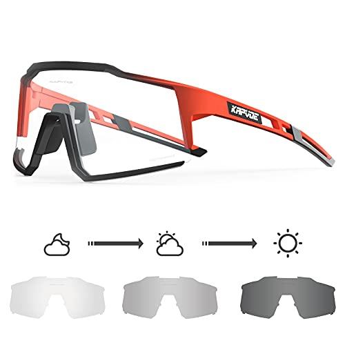 KAPVOE Gafas de Ciclismo Fotocromáticas con TR90 Gafas de Sol Deportivas Mujeres Hombres Running Transparente MTB Bicicleta Accesorios 11