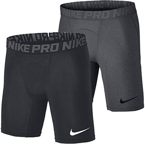 Nike Herren Pro Trainingsshorts, grau (Carbon Heather/Dark Grey/Black), S